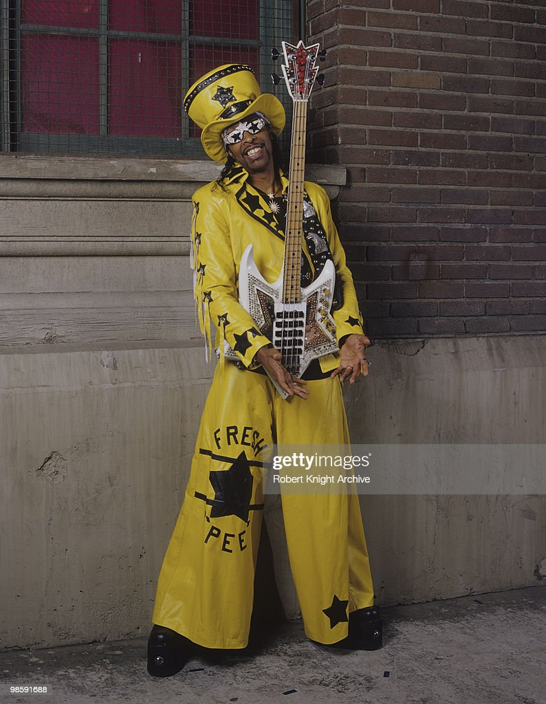 American funk bassist and singer Bootsy Collins in the 1990's