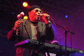 American funk composer and vibraphone player Roy Ayers performs on stage during the final day of The Big Chill Festival 2010 at Eastnor Castle Deer...