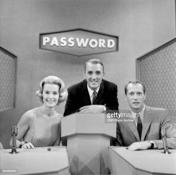 American game show host Jack Clark hosts American actress Dina Merrill and American actor Darren McGavin as the celebrity contestants on the game...