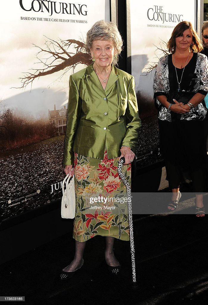 American ghost hunter Lorraine Warren arrives at 'The Conjuring' Los Angeles Premiere at the ArcLight Cinemas Cinerama Dome on July 15, 2013 in Hollywood, California.