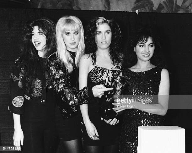 American girl group 'The Bangles' at the International Rock Awards London June 2nd 1989
