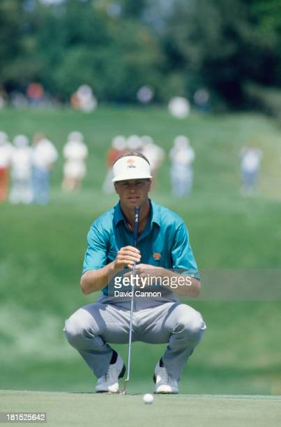 American golfer Bob Tway at the PGA Championship at Inverness Club in Toledo Ohio 10th August 1986 Tway won the competition his only major...