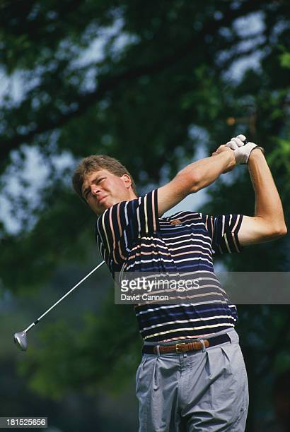 American golfer Bob Tway at the PGA Championship at Inverness Club in Toledo Ohio 8th August 1986 Tway won the competition his only major...