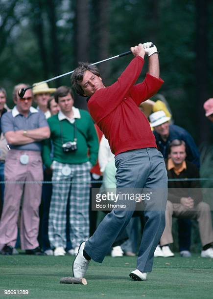 American golfer Fuzzy Zoeller in action during the US Masters at the Augusta National golf course April 1981