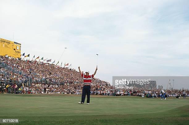 American golfer Mark Calcavecchia wins the British Open at the Royal Troon Golf Club Scotland 23rd July 1989