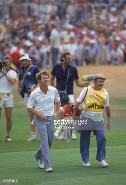 American golfer Tom Watson about to win the British Open Golf Championship at the Royal Birkdale Golf Club July 1983