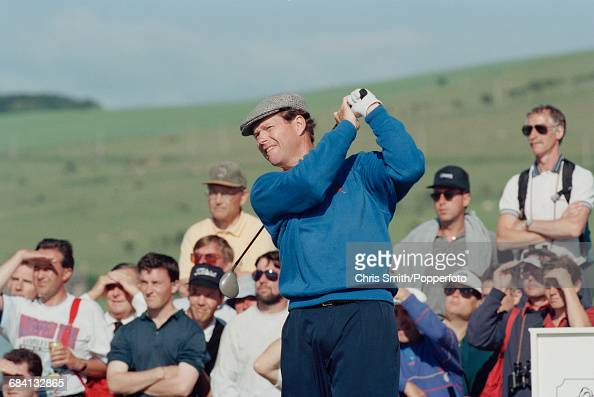 American golfer Tom Watson pictured in action to finish in joint 11th place at the 1994 Open Championship at Turnberry Golf Resort in Scotland in...