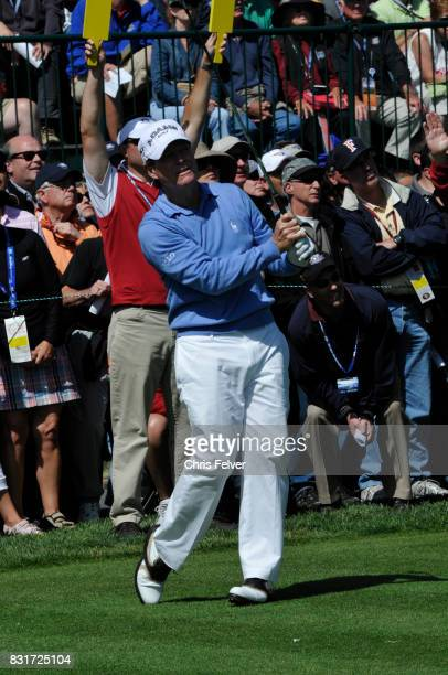 American golfer Tom Watson swings his club during the 110th US Open golf championship Pebble Beach California June 17 2010