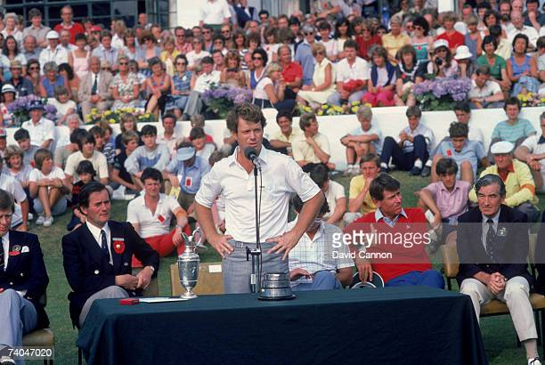American golfer Tom Watson wins the British Open Golf Championship at the Royal Birkdale Golf Club July 1983