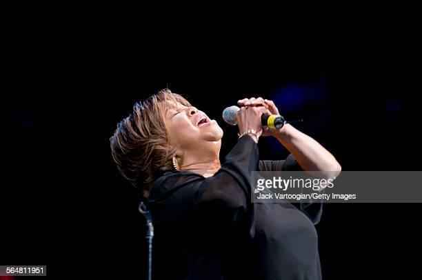 American Gospel and Soul singer Mavis Staples headlines the opening night of the Central Park SummerStage's 2008 season New York New York June 13 2008
