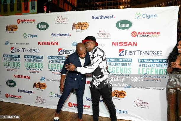 American Gospel Music Singer Kirk Franklin and American singersongwriter musician keyboardist and record producer Teddy Riley arrive to the 4th...