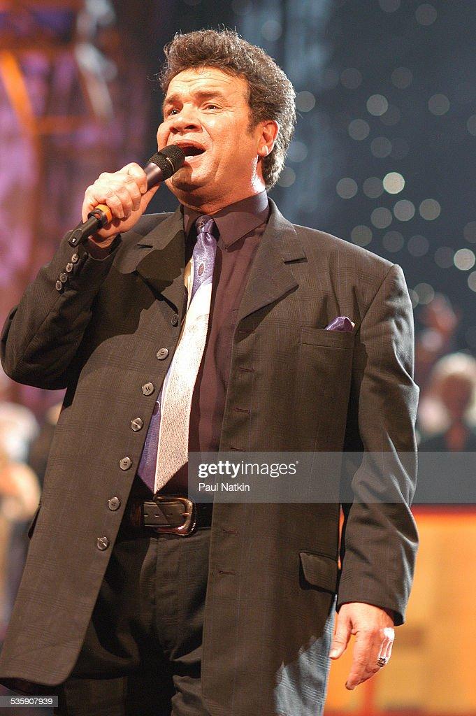 American gospel singer Russ Taff performs, Dallas, Texas, March 11, 2003.