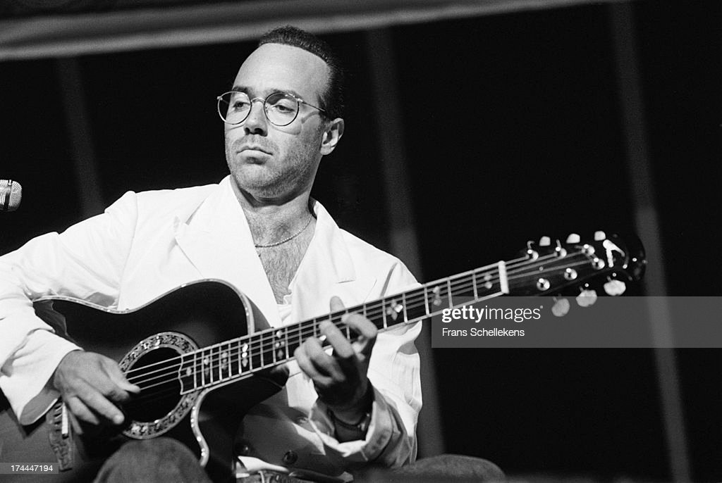 American guitarist Al Di Meola performs live on stage at the North Sea Jazz Festival in the Hague Netherlands on 14th July 1989