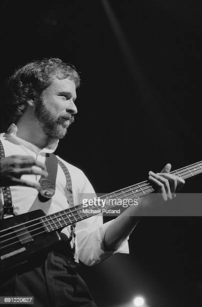 American guitarist Daryl Stuermer performing with English rock group Genesis at the Rosemont Horizon Rosemont Illinois during the band's Invisible...