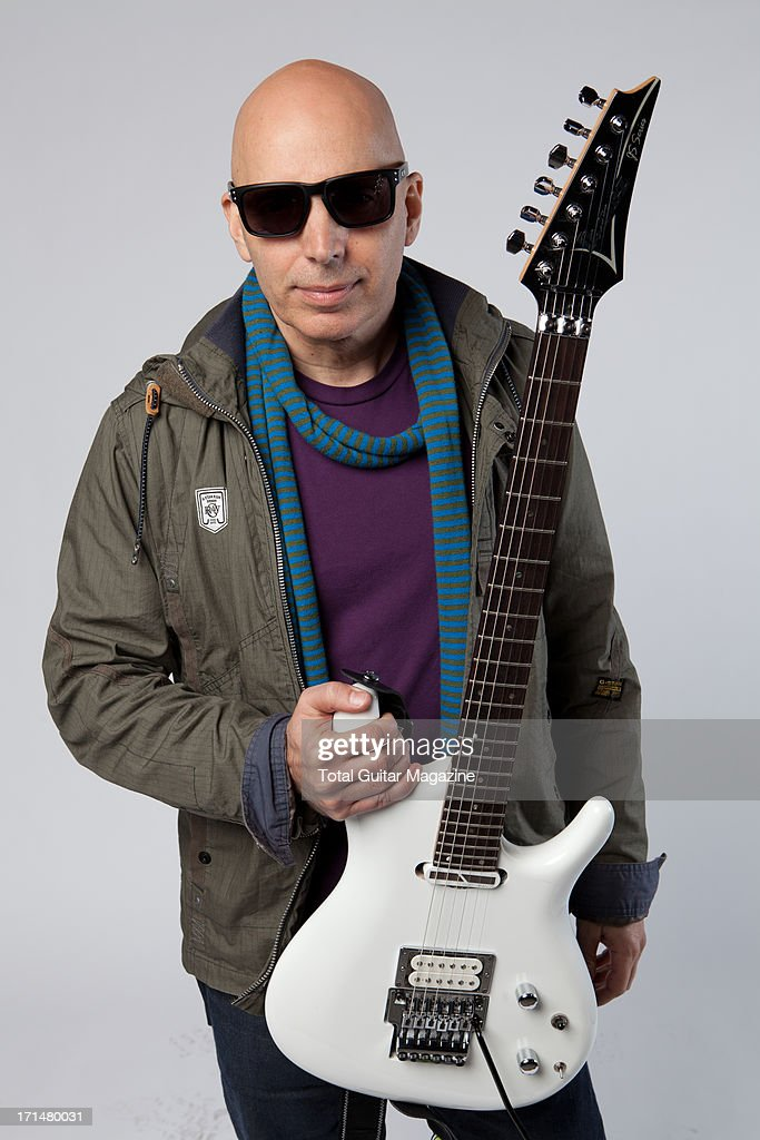 American guitarist Joe Satriani photographed during a portrait shoot backstage at the Marshall 50 Years of Loud Live anniversary concert, September 22, 2012.
