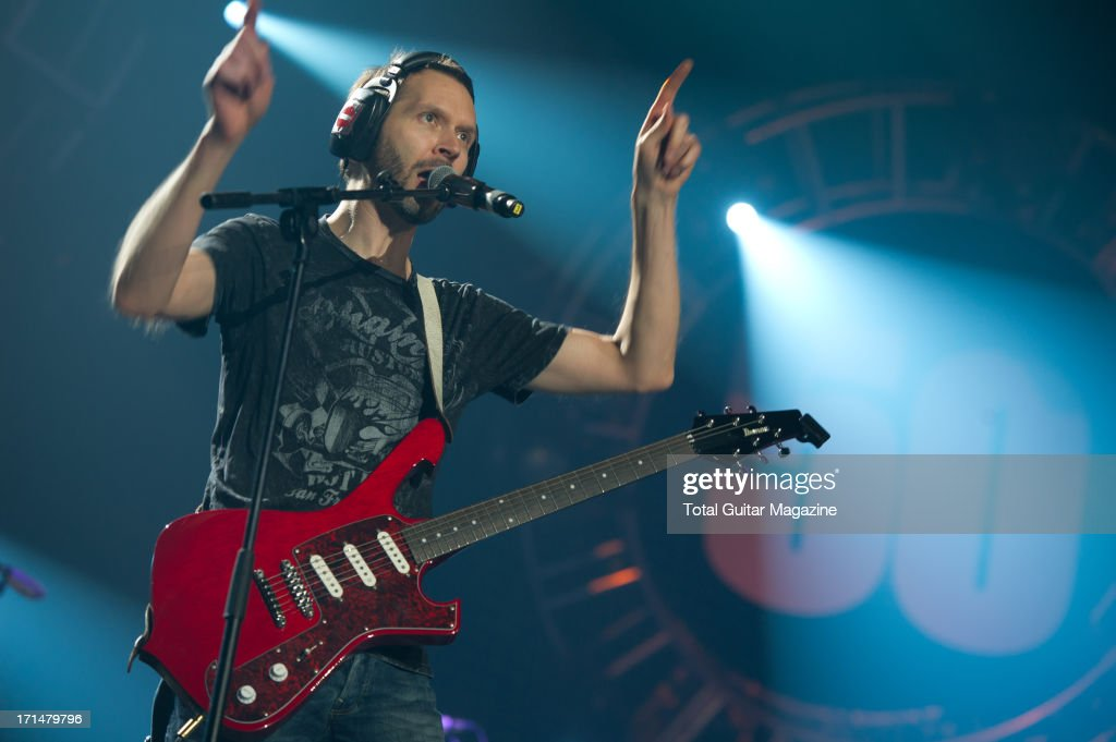 American guitarist Paul Gilbert performing live onstage during the Marshall 50 Years of Loud Live anniversary concert at the Wembley Arena, September 22, 2012.