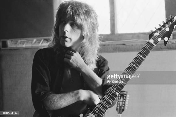American guitarist Randy Rhoads recording Ozzy Osbourne's 'Blizzard of Ozz' album at Ridge Farm Studio 1980