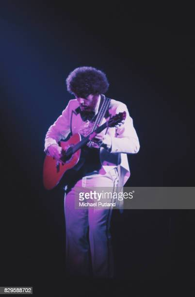 American guitarist Rich Williams performs with progressive rock band Kansas 1977