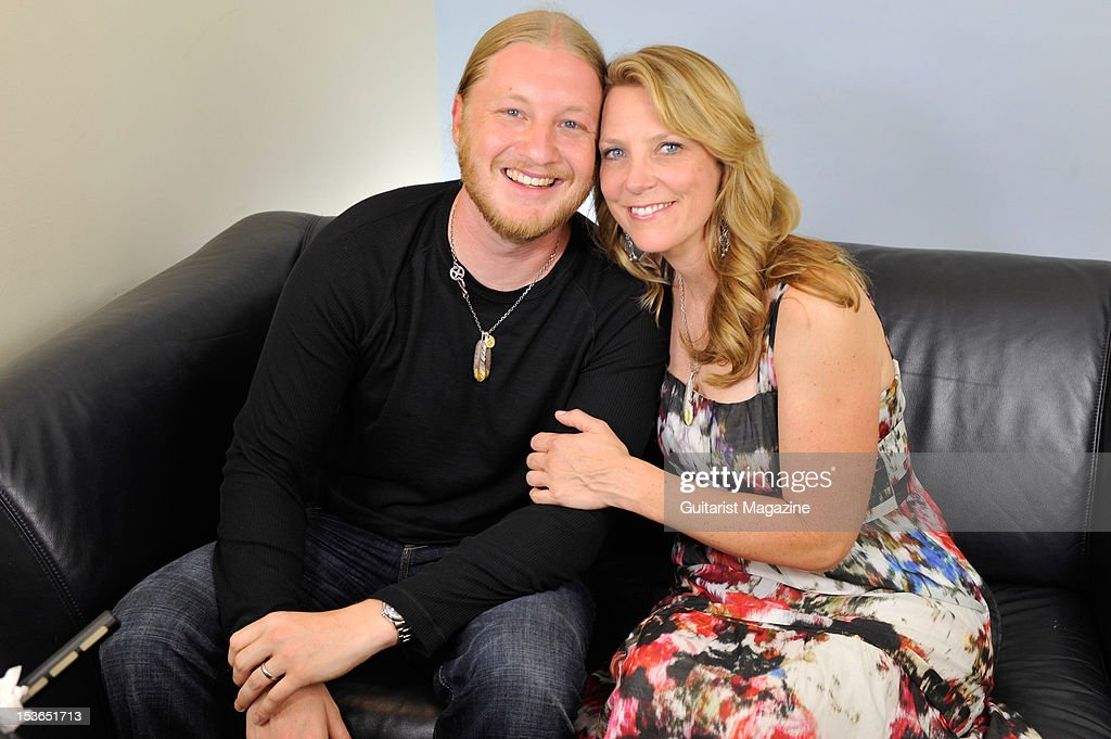 American guitarists Derek Trucks (L) and Susan Tedeschi. During a portrait shoot and interview for Guitarist Magazine, June 28, 2011.