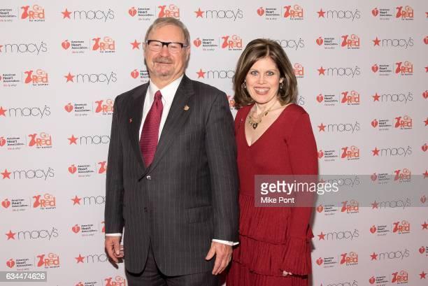 American Heart Association Chairman Alvin Royse and American Heart Association CEO Nancy Brown attend the American Heart Association's Go Red for...