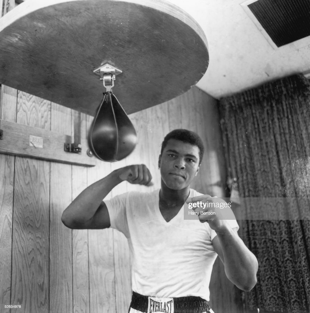 American Heavyweight boxer Cassius Clay training in his gym 21st May 1965