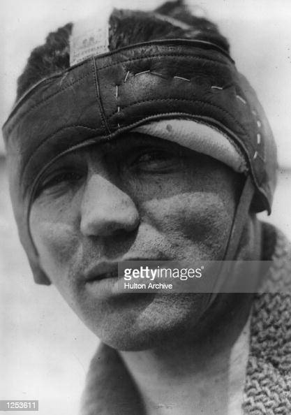 American heavyweight boxer Jack Dempsey the 'Manassa Mauler' taking care of a cut above his left eye Mandatory Credit Allsport Hulton/Archive
