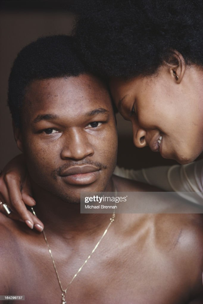 American heavyweight boxer Larry Holmes with his wife Diane in Easton, Pennsylvania, circa 1979.