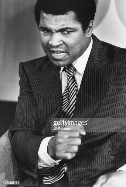 American heavyweight boxer Muhammad Ali during a television interview New York City 1977