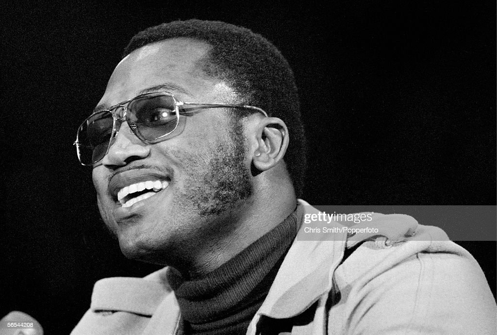 American heavyweight boxing champion Joe Frazier attends a press conference at Madison Square Garden in New York, at the time of his second fight with Muhammad Ali, 1974.