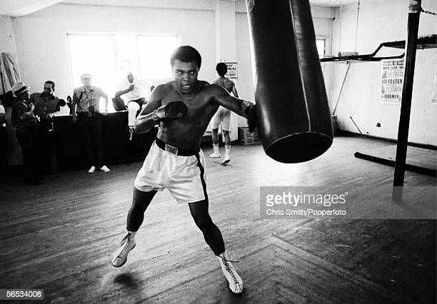 American heavyweight boxing champion Muhammad Ali in training at Chris Dundee's 5th Street gym Miami Beach 1970