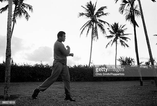 American heavyweight boxing champion Muhammad Ali in training in Miami Beach for his upcoming title fight against Joe Frazier 27th February 1971