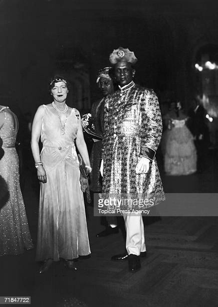 American heiress Maud Alice Burke aka Lady Emerald Cunard attends the Strauss Ball at the Savoy Hotel with Sir Jey Singh Maharajah of Alwar 7th...