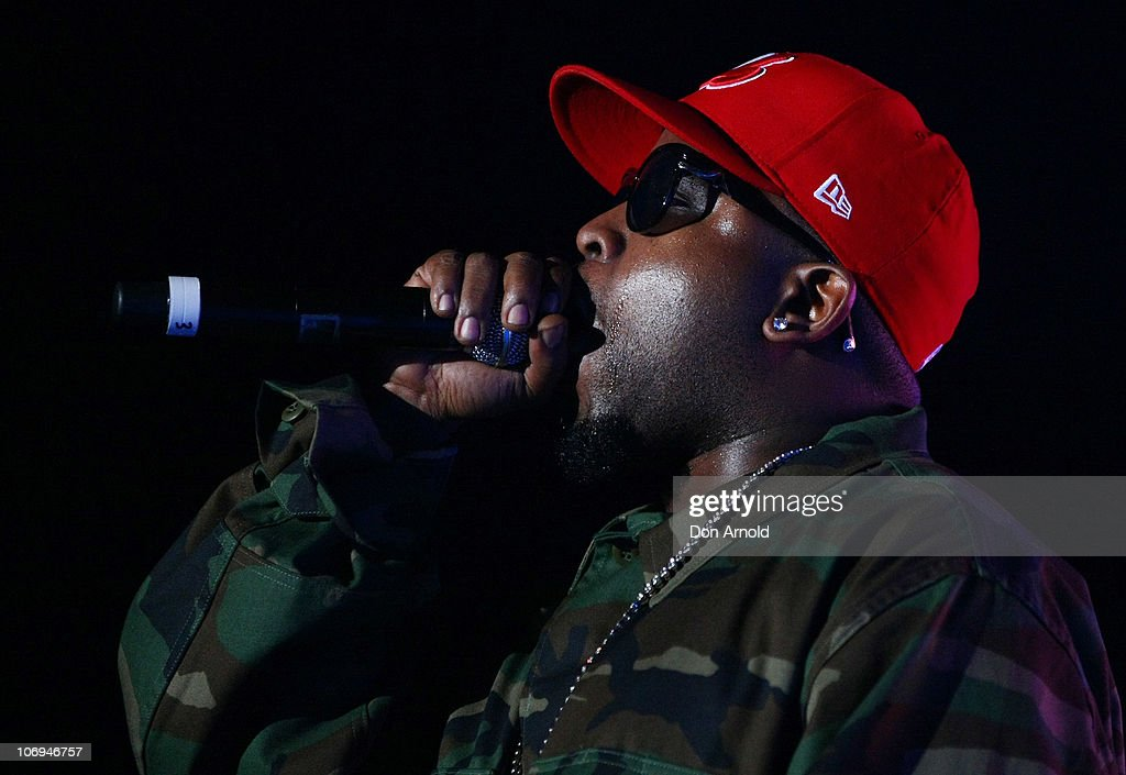 American hip hop artist, <a gi-track='captionPersonalityLinkClicked' href=/galleries/search?phrase=Big+Boi&family=editorial&specificpeople=202898 ng-click='$event.stopPropagation()'>Big Boi</a> of Outkast performs on stage during a promotion for Electronic Arts' racing video game 'Need for Speed Hot Pursuit' at Hordern Pavilion on November 18, 2010 in Sydney, Australia.