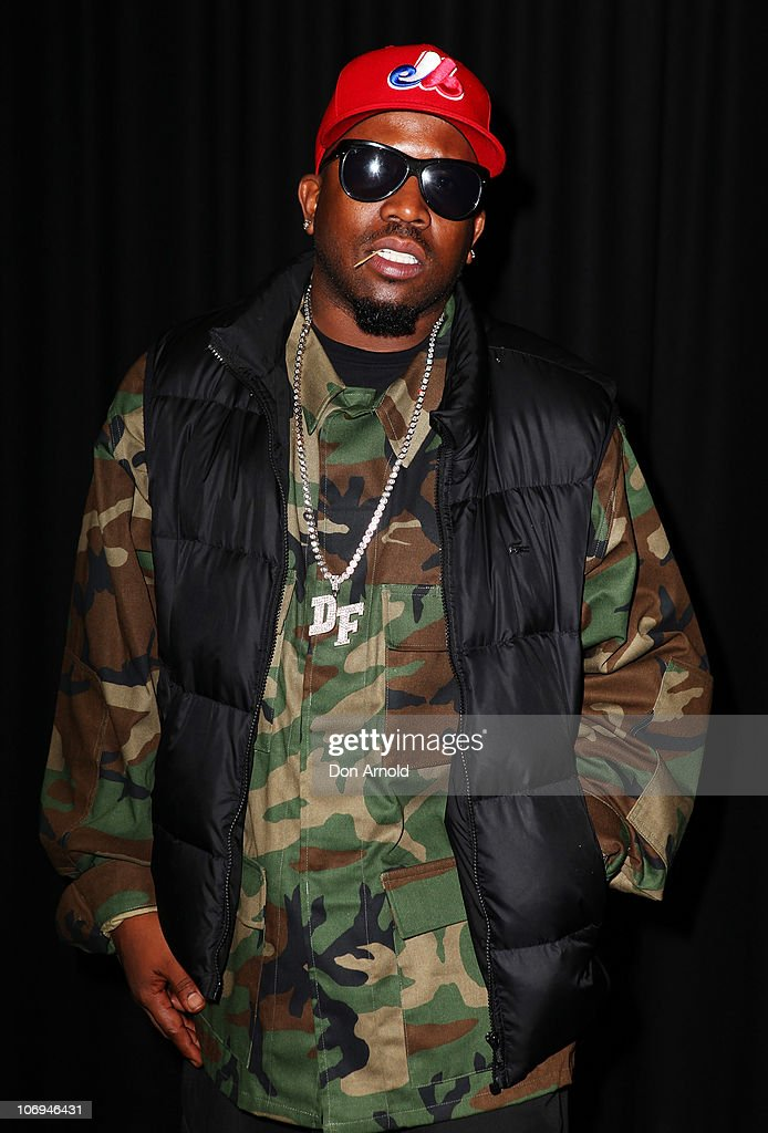 American hip hop artist, Big Boi of Outkast poses backstage during a promotion for Electronic Arts' racing video game 'Need for Speed Hot Pursuit' at Hordern Pavilion on November 18, 2010 in Sydney, Australia.