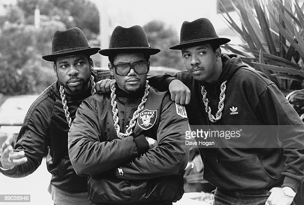 American hip hop group RunDMC at the Montreux Pop Festival in Switzerland May 1988 From left to right JamMaster Jay Darryl McDaniels and Joseph...