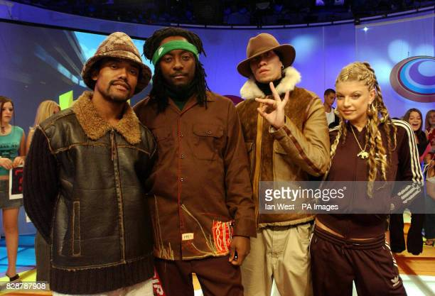 American Hip Hop group The Black Eyed Peas appearing on the MTV TRL UK show at the MTV studio in Camden north London *06/10/03 American Hip Hop group...