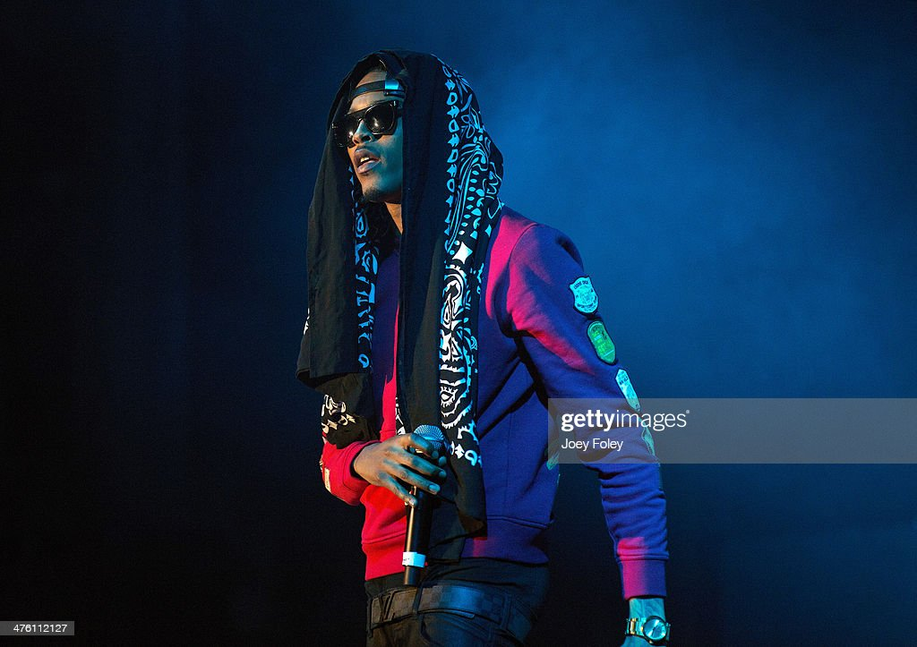 American hip hop singer <a gi-track='captionPersonalityLinkClicked' href=/galleries/search?phrase=August+Alsina&family=editorial&specificpeople=10755263 ng-click='$event.stopPropagation()'>August Alsina</a> performs live onstage in concert as he opens for 2 Chainz during the 2 Good To Be T.R.U. Tour in The Egyptian Room at Old National Centre on March 1, 2014 in Indianapolis, Indiana.