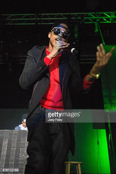 American hip hop singer August Alsina performs live onstage in concert as he opens for 2 Chainz during the 2 Good To Be TRU Tour in The Egyptian Room...