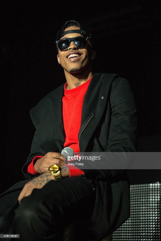 American hip hop singer August Alsina performs live onstage in concert as he opens for 2 Chainz during the 2 Good To Be T.R.U. Tour in The Egyptian Room at Old National Centre on March 1, 2014 in Indianapolis, Indiana.