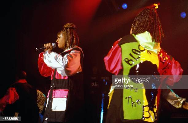 American hip hop trio SaltNPepa on stage circa 19861990