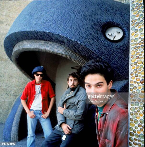 American hiphop group the Beastie Boys circa 1990 Left to right Adam 'MCA' Yauch Michael 'Mike D' Diamond and Adam AdRock' Horovitz