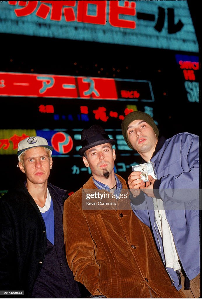 American hiphop group the Beastie Boys Japan November 1994 Left to right Adam 'MCA' Yauch Michael 'Mike D' Diamond and Adam AdRock' Horovitz