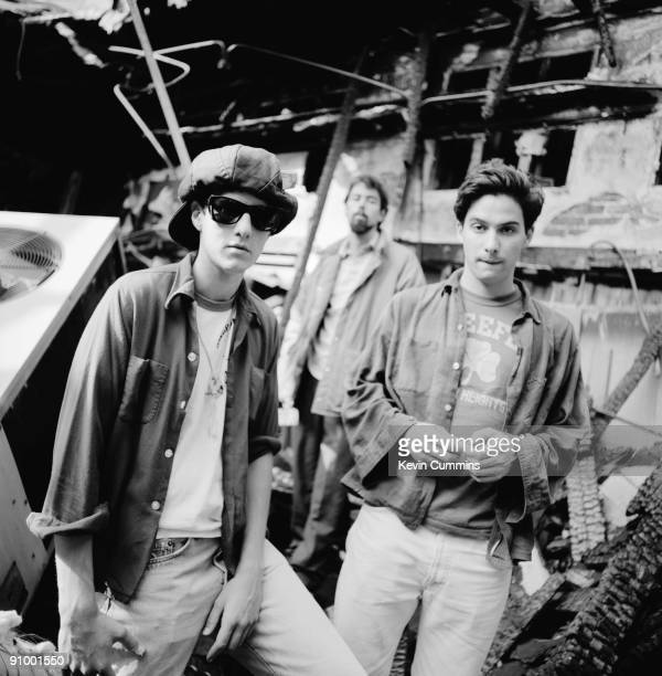 American hiphop group the Beastie Boys Los Angeles circa 1990 Left to right Adam 'MCA' Yauch Michael 'Mike D' Diamond and Adam 'AdRock' Horovitz