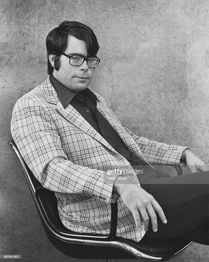American horror writer Stephen King, 1975.
