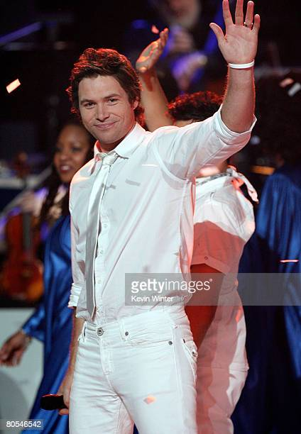 American Idol contestant Michael Johns performs during the taping of Idol Gives Back held at the Kodak Theatre on April 6 2008 in Hollywood California