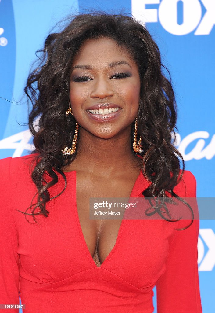 'American Idol' finalist Amber Holcomb arrives at FOX's 'American Idol' Grand Finale at Nokia Theatre L.A. Live on May 16, 2013 in Los Angeles, California.