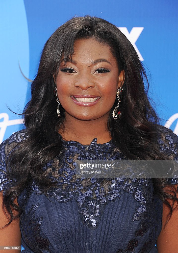 'American Idol' finalist Candice Glover arrives at FOX's 'American Idol' Grand Finale at Nokia Theatre L.A. Live on May 16, 2013 in Los Angeles, California.