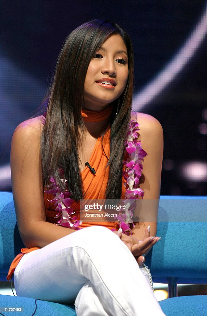 American Idol finalist Jasmine Trias in Los Angeles, Calfornia