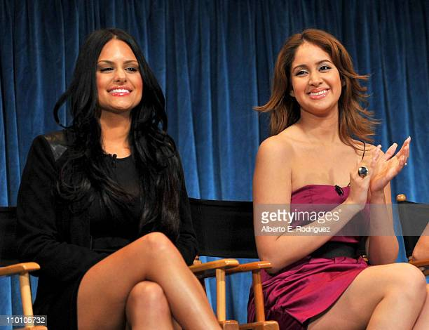 American Idol Finalist Pia Toscano and Karen Rodriguez onstage at Paley Center for Media's Paleyfest 2011 event honoring 'American Idol' held at...