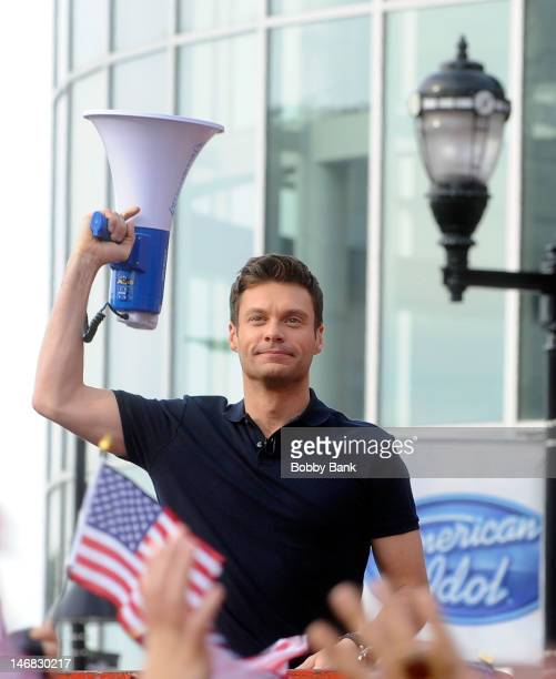 American Idol host Ryan Seacrest attends'American Idol' Season 12 Auditions on June 23 2012 in Newark New Jersey